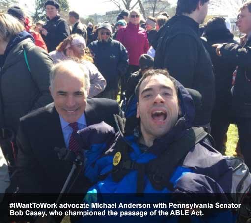 Michael Anderson with Senator Bob Casey